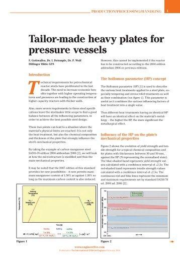 Tailor-made heavy plates for pressure vessels T - Dillinger Hütte GTS