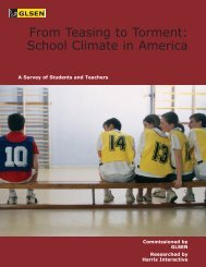 From Teasing to Torment: School Climate in America