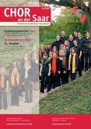 Chor an der Saar 4/2008 - Saarländischer Chorverband