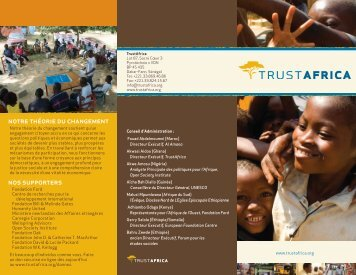 TrustAfrica brochure - christopher reardon