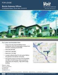 3130 Bonita Road(3). - Voit Real Estate Services
