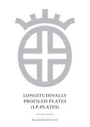 longitudinally profiled plates - Dillinger Hütte GTS