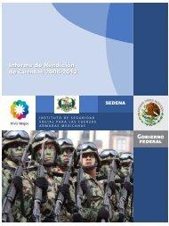 Informe de Rendición de Cuentas 2006-2012 - Issfam