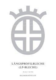 LÄNGSPROFILBLECHE (LP-BLECHE) - Dillinger Hütte GTS