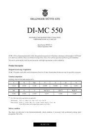 DI-MC 550 09-99 E - Dillinger Hütte GTS