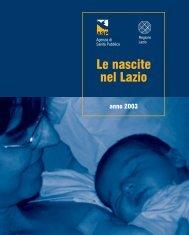 Le nascite nel Lazio - Rapporto 2003 - Agenzia di Sanità Pubblica ...
