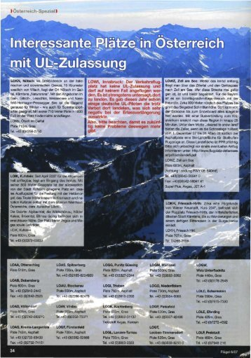 UL-Flugplätze in Österreich (PDF)