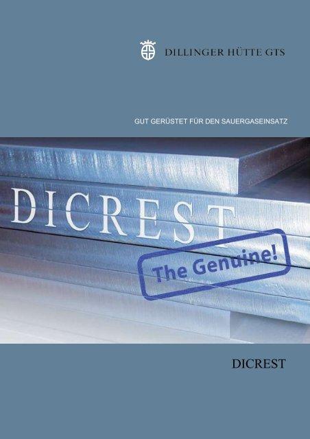 Gut gerüstet für den Sauergaseinsatz - DICREST - Dillinger Hütte GTS