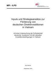 Deutsche Direktinvestitionen in Vietnam ... - Axel Mierke