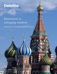 Innovation in emerging markets - Deloitte