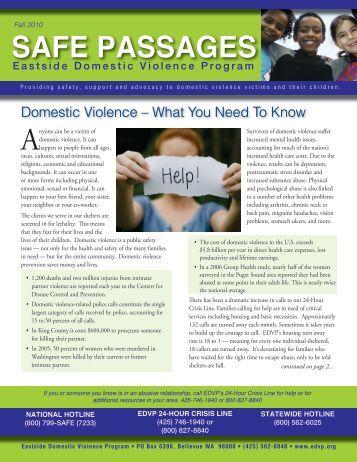 Fall 2010 - Eastside Domestic Violence Program