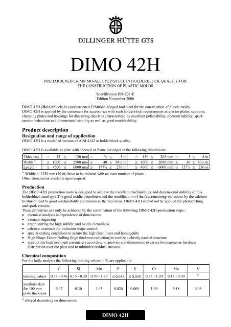 DIMO 42H - Dillinger Hütte GTS