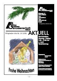 Mitglieder-Info Nr. 10 12/06 - Gemeinnützige Baugenossenschaft ...
