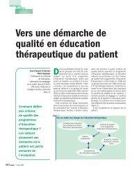 Vers une démarche de qualité en éducation thérapeutique du patient