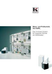 Mess- und Prüftechnik. Von KARL. Das modulare System für ...