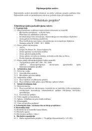 Diplomprojekta sastāvs - RCK LV