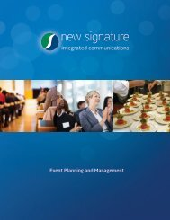 Event Planning and Management - New Signature
