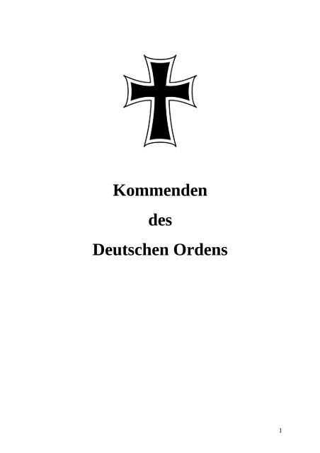 Kommenden des Deutschen Ordens - Damian Hungs