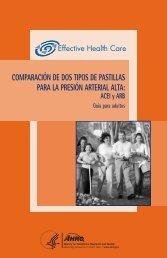 ACE-ARB Spanish - AHRQ Effective Health Care Program - Agency ...