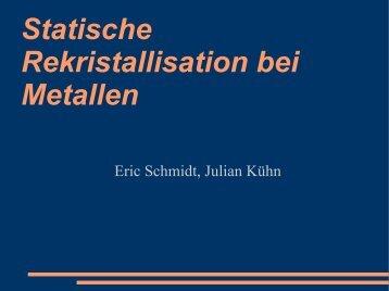 Statische Rekristallisation bei Metallen