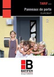 Panneaux de porte EUROBAT - batifer