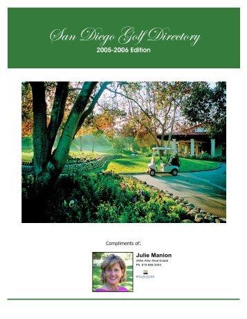 San Diego Golf Directory