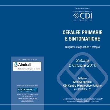 CEFALEE PRIMARIE E SINTOMATICHE - CDI