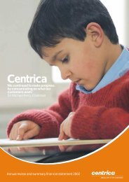 Download the 2002 Annual review PDF - Centrica