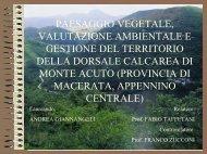 paesaggio vegetale, valutazione ambientale e gestione del territorio ...