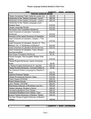 Printable Order Form - Tibetan Language Institute Website