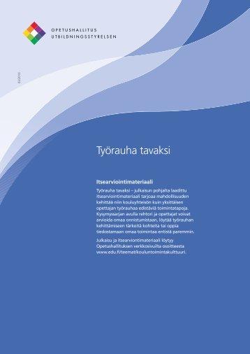 Työrauha tavaksi -itsearviointiprosessi - Edu.fi