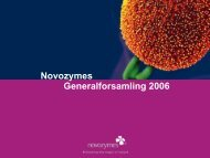 Præsentation - Novozymes