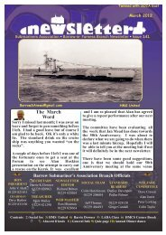 March 12 - Barrow Submariners Association