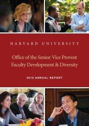 FD&D 2010 Annual Report - Harvard University - Office of Faculty ...