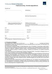 Praktikumsvertrag - Professional School of Education - Ruhr ...