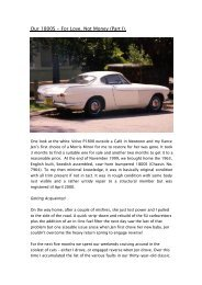 Our 1800S - For Love, Not Money (Part I). - Volvo 1800 Picture Gallery