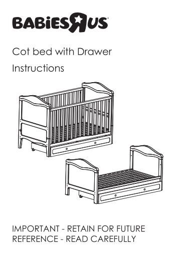bruin sleigh cot instructions