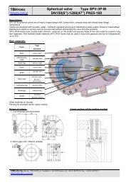 "TBH Spherical valve Type SPV-3P-M DN150(6"")-1200(47"") PN25-160"