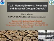 Seasonal Forecast and Drought Outlook - US Drought Portal