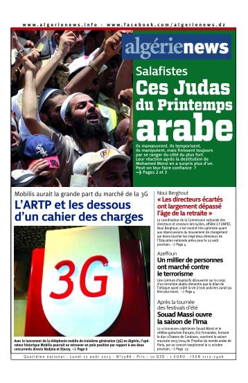 Fr-12-08-2013 - Algérie news quotidien national d'information
