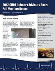 RECAP: CHOT's 2012 Fall Industry Advisory Board Meeting