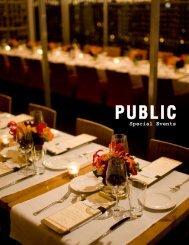 event spaces - Public