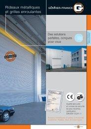 Rideaux métalliques et grilles enroulantes - Günther-Tore GmbH