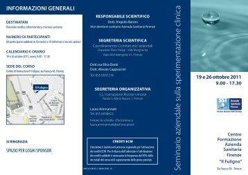 Seminario aziendale sulla sperimentazione clinica - Fimmgfirenze.org