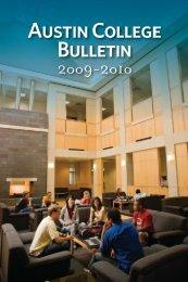 Austin College Bulletin, 2009-2010