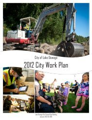 2012 City Work Plan - City of Lake Oswego