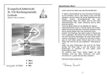 ausgabe-1-2008-maerz-mai - St. Viti Kirchengemeinde Leiferde