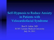 Self-Hypnosis to Reduce Anxiety in Patients with VCFS