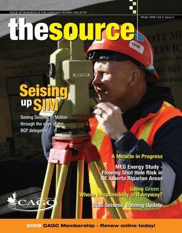 SIM Seising SIM Seising - Canadian Association of Geophysical ...