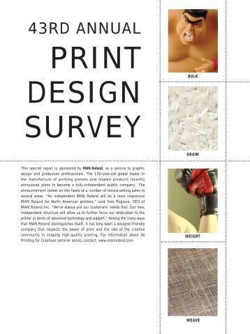 June 06 Print Survey Impo - Graphic Design USA
